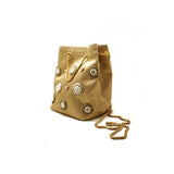Céleste Mini Gold Bucket Bag