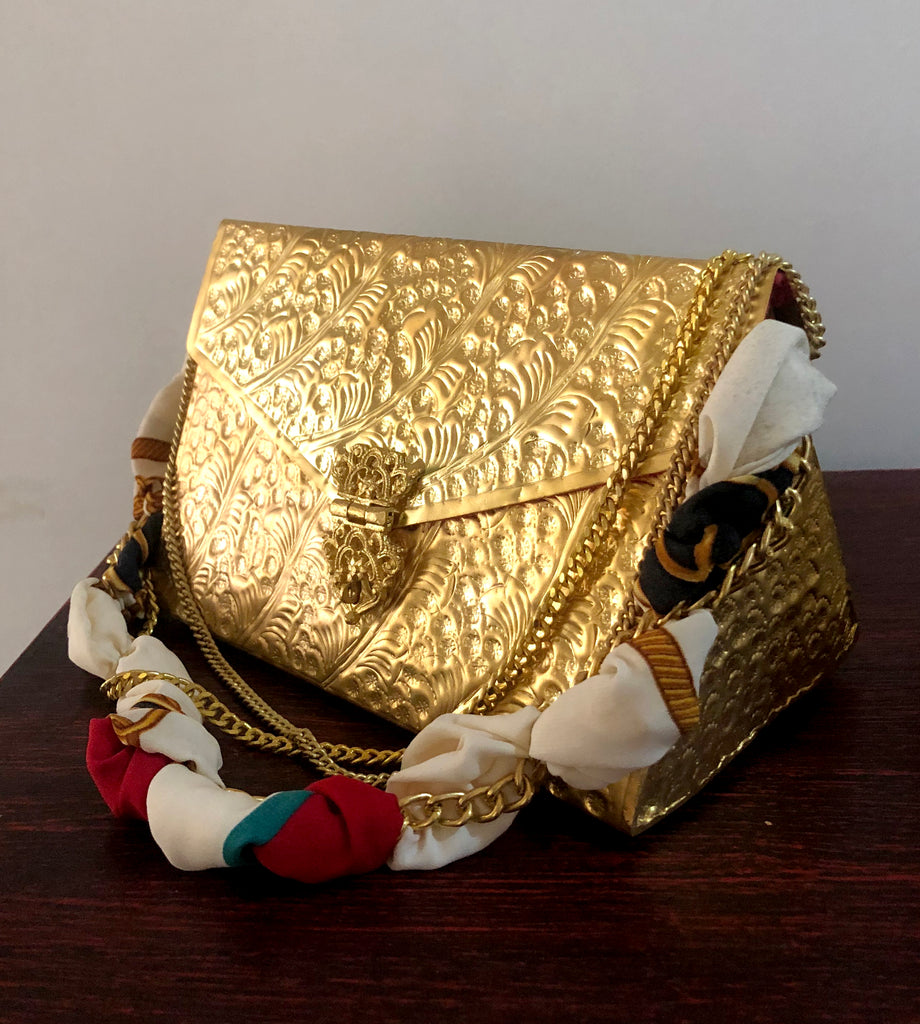 Bombae Golden Hand Made Clutch Bag - Limited Edition