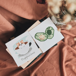 Puppucino/Avocado cards/art prints