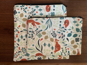 Litterless Lunch Bag - cream woodland