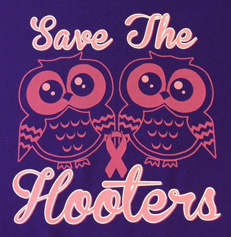 Save The Hooters Breast Cancer Survivor t shirt