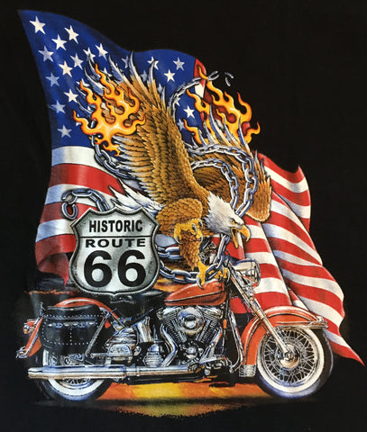 Route 66 Americana motorcycle t shirt
