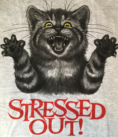 Stressed Out Kitty t shirt