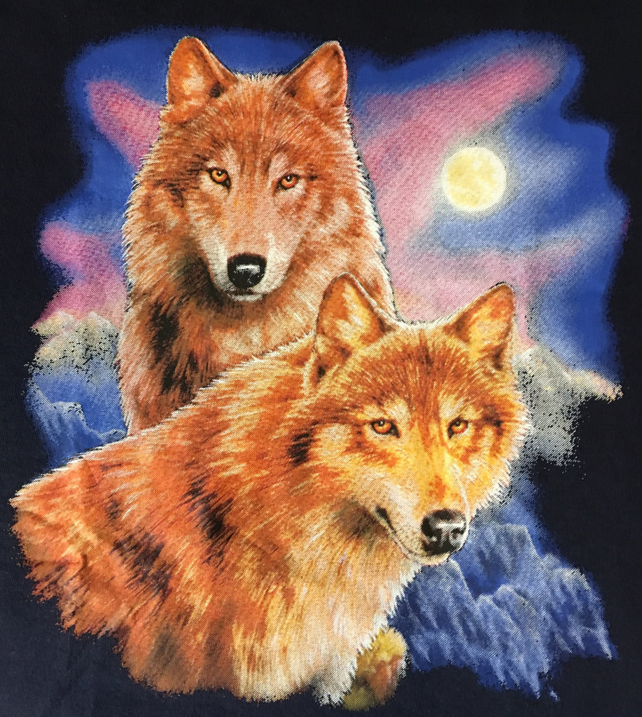 Wolves in moonlight t shirt
