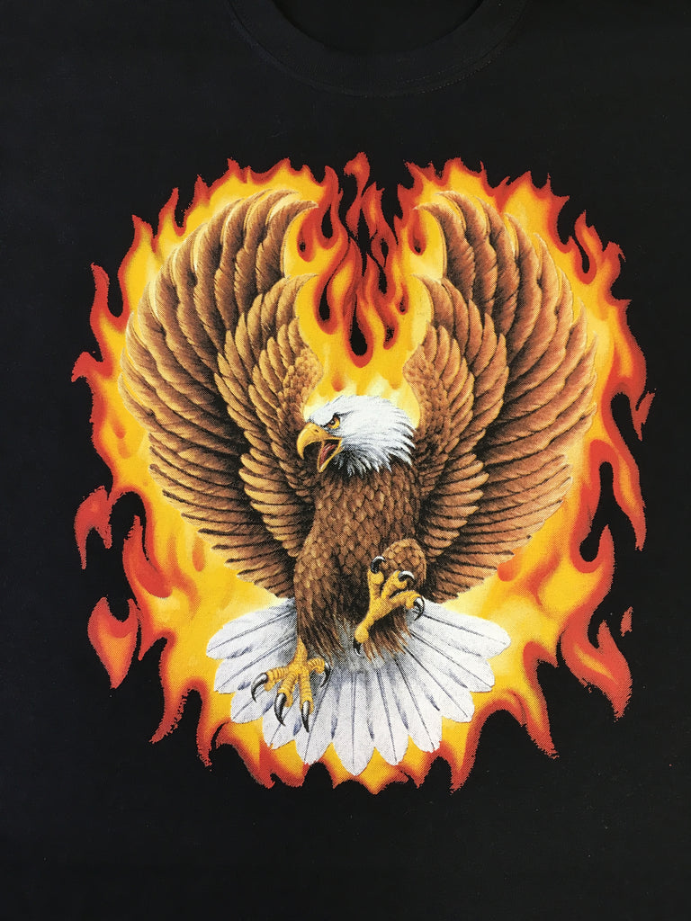 Eagle and Flames t shirt