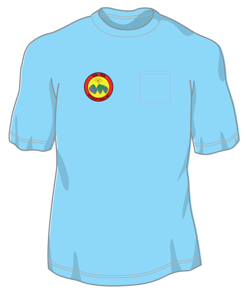 Ten-Ten Pocket T w/  5 color front logo