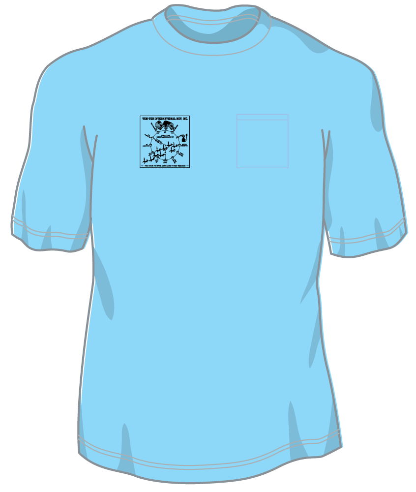 Ten-Ten Pocket T w/  1 color front logo