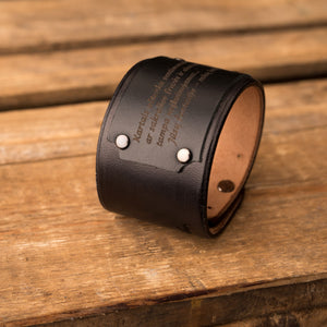 Leather bracelet Universe | Black color