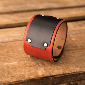 Leather bracelet Universe | Orange color