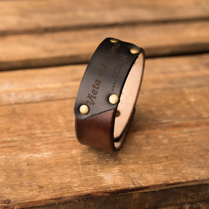 Leather bracelet Cheops | Brown color