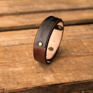 Leather bracelet Sphere | Brown color
