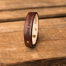 Load image into Gallery viewer, Leather bracelets for couples Spirit (2 pcs.) | Brown color