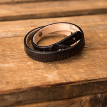 Load image into Gallery viewer, Leather bracelets for couples Twist (2 pcs.) | Black color