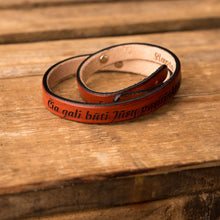 Load image into Gallery viewer, Leather bracelet Twist | Orange color