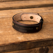 Load image into Gallery viewer, Leather bracelet Sphere | Brown color