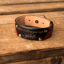 Load image into Gallery viewer, Leather bracelet Cheops | Orange color