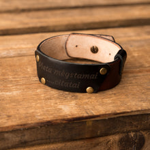 Load image into Gallery viewer, Leather bracelet Cheops | Brown color
