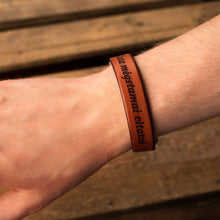 Load image into Gallery viewer, Leather bracelets for couples Spirit (2 pcs.) | Orange color