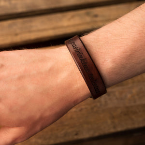 Leather bracelet Spirit | Brown color