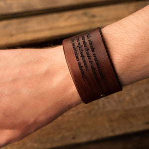 Leather bracelet Grand | Brown color