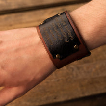 Load image into Gallery viewer, Leather bracelet Universe | Brown color
