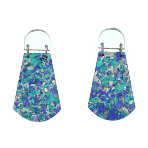 'Amelia' Dangle Earrings silver & blue