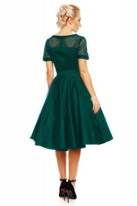 Dolly & Dotty Lace Dress in Green