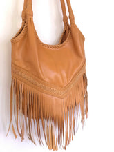 Load image into Gallery viewer, Handmade Boho Leather Tassel Bag