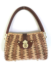 Load image into Gallery viewer, Mid Century Vintage Cane Woven bag