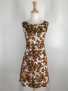 60s style shift dress 'Autumn floral'