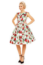 Load image into Gallery viewer, Dolly & Dotty 50s style Plunge back dress