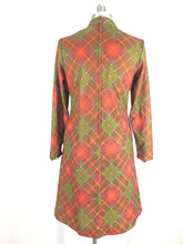 Load image into Gallery viewer, 70s long sleeve plaid print dress