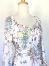 Load image into Gallery viewer, Butterfly 70s Maxi Dress
