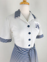 Load image into Gallery viewer, 1970s stripey sailor dress