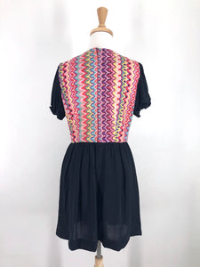 1970s psychedelic mini dress