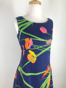60s style Shift dress Tulips