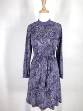 Load image into Gallery viewer, 70s paisley long sleeve dress