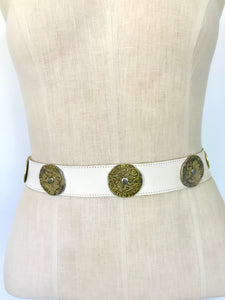 Gold Roman Coin Leather Belt
