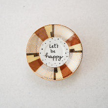 "Laden Sie das Bild in den Galerie-Viewer, Wandteller ""let's be happy"""