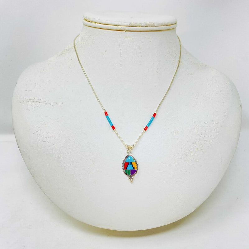 native american sterling inlay
