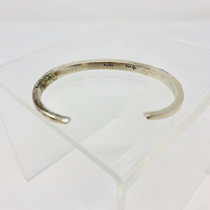signed inlaid thin cuff