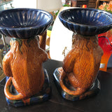 decorative monkey shelf sitter pair