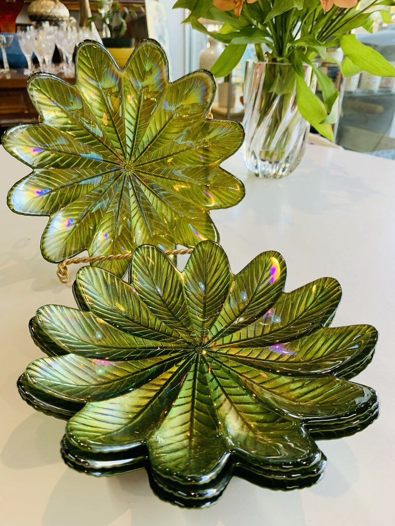 """fern"" plates set of 4"