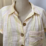 nwt cut off button front jacket