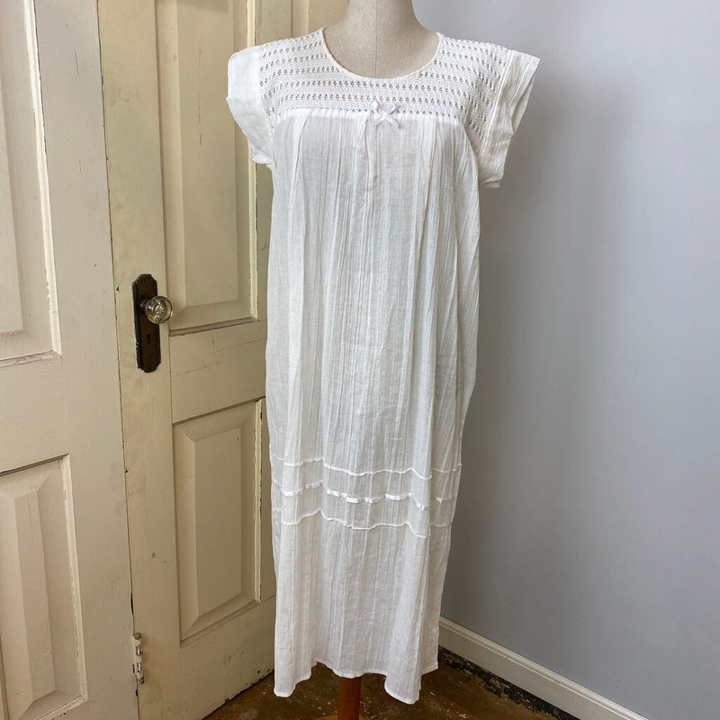 lace cotton house dress