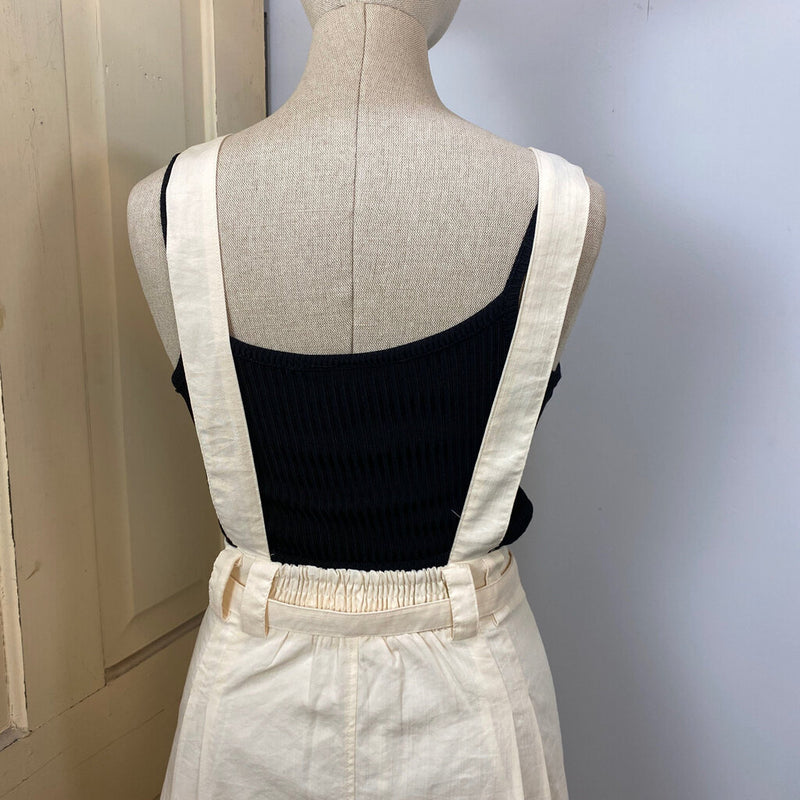 nwt belted suspenders button front