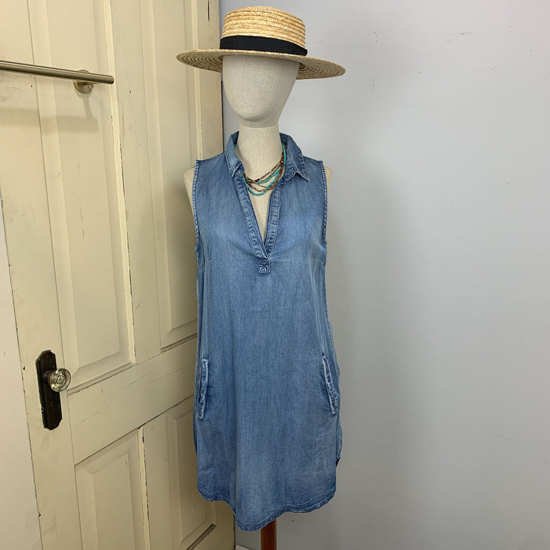 chambray popover w/pockets