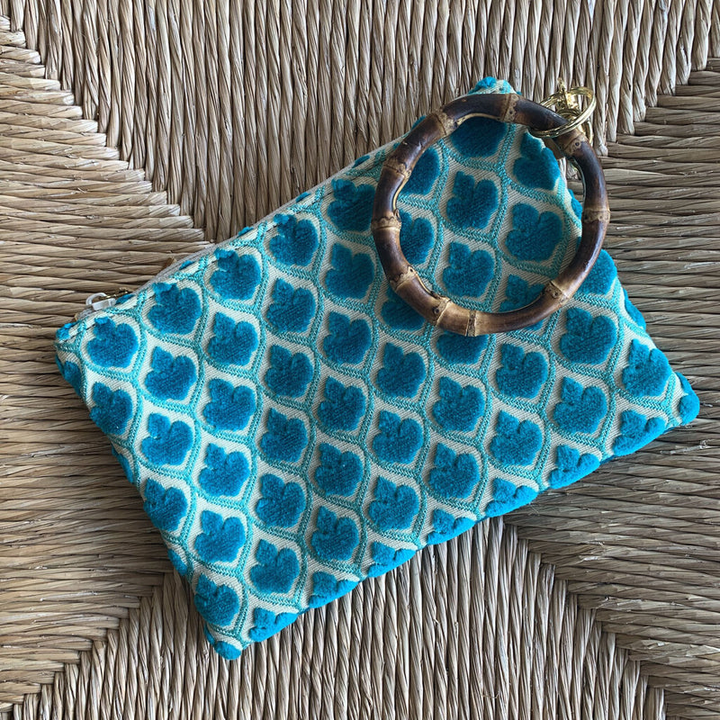 fabric wristlet zip pouch