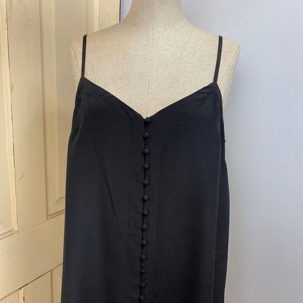 silk button front sundress