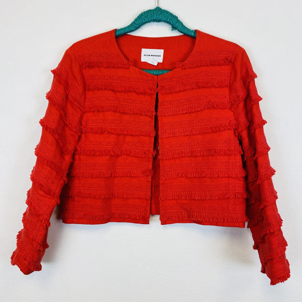 fringed lace cotton bolero